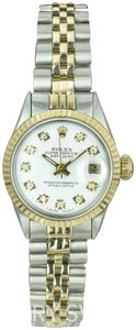 Rolex Rolex Lady Datejust 6517 White Diamond Dial Fluted Bezel 26mm