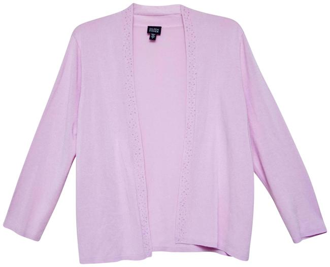 Item - Pink Beaded Sweater Jacket Size 12 (L)