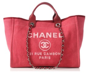 317a9bdeb339 Chanel Deauville Grey Canvas Tote. Added to Shopping Bag. Chanel Tote in  DARK PINK