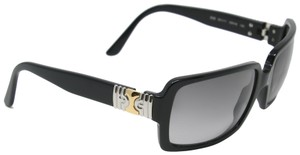 BVLGARI Signature Black Gradient Occhiali Square with Gold and Silver Detail