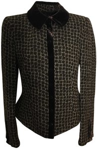 Armani Collezioni VELVET AND SUBTLE ANIMAL PRINT SUIT