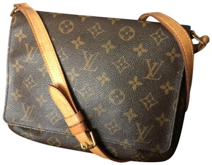 e40a4ac738a3 Added to Shopping Bag. Louis Vuitton Lv Leather Musette Tango Shoulder Bag. Louis  Vuitton Musette Tango Short Strap Brown Monogram ...