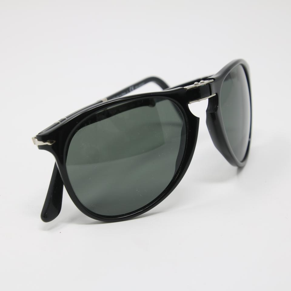 4bb56c60c9a8 Persol Black Signature 9714-s Folding Polarized Green Gradient ...