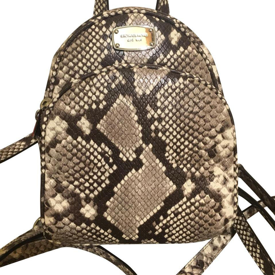 9a0f6d6525 Michael Kors Mini Snake Print Leather Backpack - Tradesy
