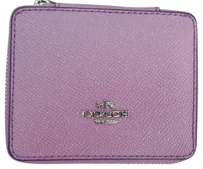 Item - Crossgrain Leather Lilac with Silver Hardware Box Travel In Glitter And