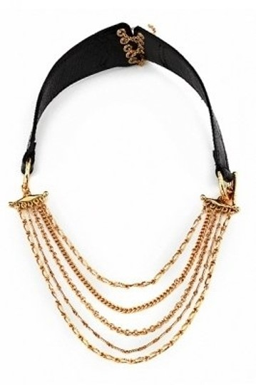 Preload https://img-static.tradesy.com/item/22873/house-of-harlow-1960-black-gold-by-nicole-richie-chain-leathe-necklace-0-0-540-540.jpg