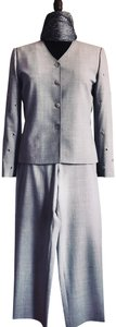 St. John St. John Grey Crosshatch Pants Suit