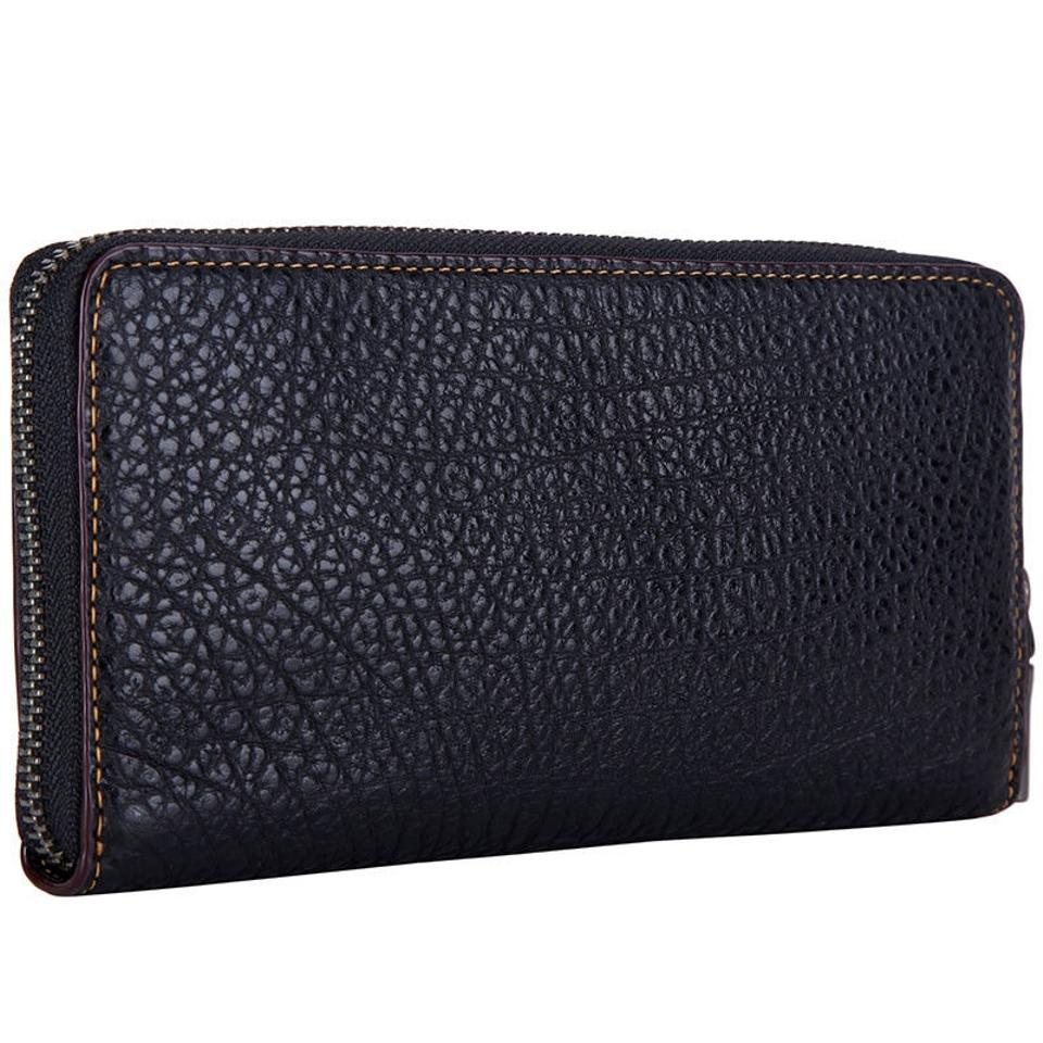 outlet store 81ed8 c57fc Coach Black F12130 Men's Accordion Textured Leather Wallet 61% off retail