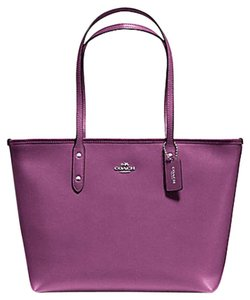 Coach Shoulder 36875 Satchel 36876 Tote in SILVER/MAUVE