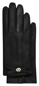 Coach NWT COACH LEATHER TURNLOCK BOW GLOVES SIZE 8
