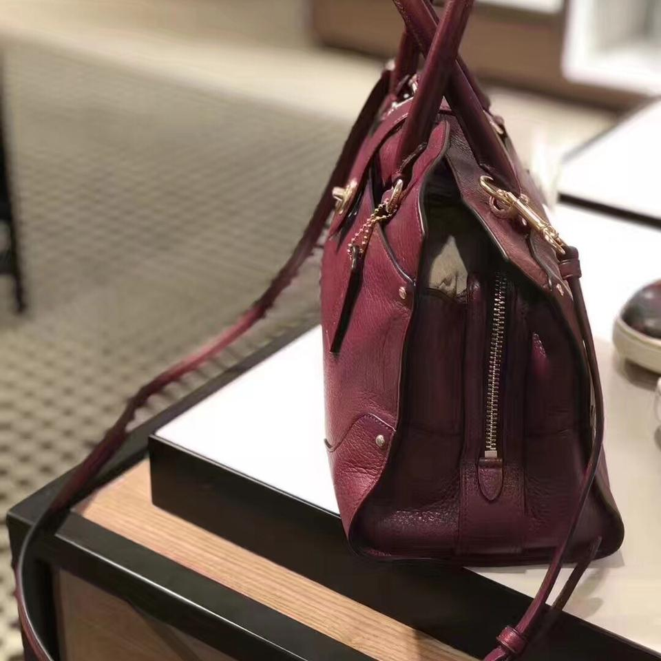 0d01911bc Coach Mercer 30 In Grain 25019e Burgundy Leather Satchel - Tradesy