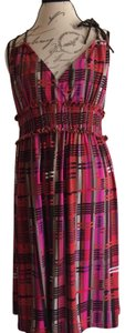 Apostrophe short dress pink red on Tradesy