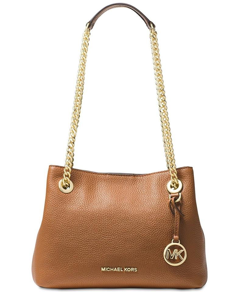 edf72a968ea0 Michael Kors Jet Set Chain Medium Messenger Acorn Leather Shoulder Bag