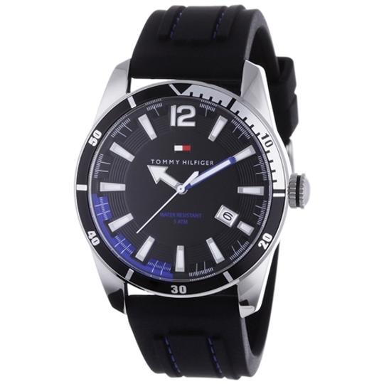 Preload https://img-static.tradesy.com/item/2287399/tommy-hilfiger-black-male-casual-1790779-silver-analog-watch-0-0-540-540.jpg