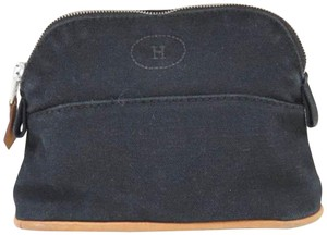 Hermès Bolide Vanity Make Up Cosmetic Black Clutch