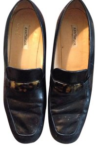 Ann Taylor Loafers Leather Black Flats