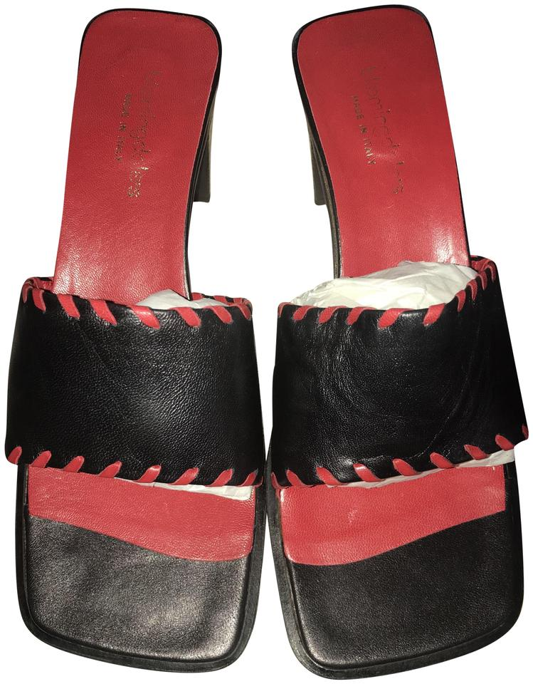 7a33d1c4d Bloomingdale s Whipstiched Stiched Leather Italian red and black Sandals ...