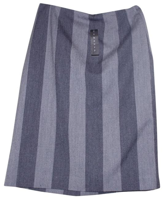 Item - Gray Follett Striped Wool A-line Skirt Size 6 (S, 28)