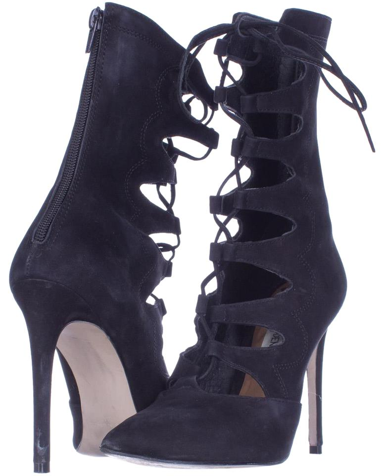 81c23585f5e Steve Madden Black Piper Strappy Pointed Toe Lace Up Dress U Boots/Booties  Size US 6 Regular (M, B) 68% off retail