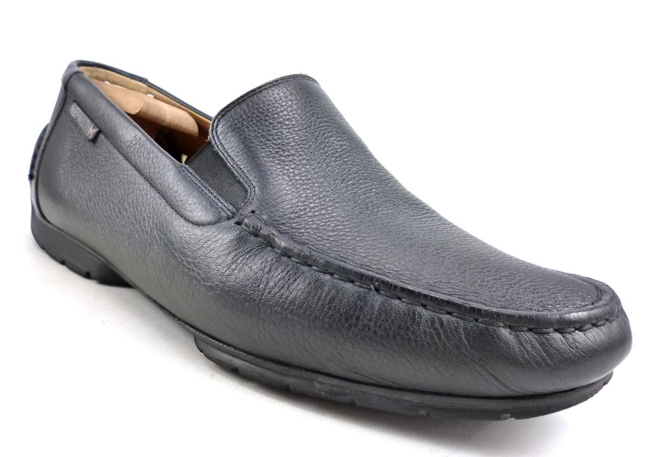 Black Leather Loafers Men's Walking On Shoes Slip Mephisto 6BAxqwPA