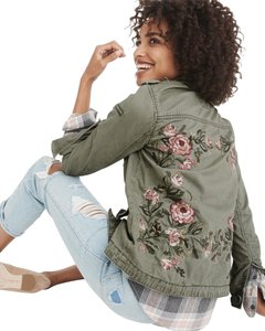 Abercrombie & Fitch Embroidered Military Jacket