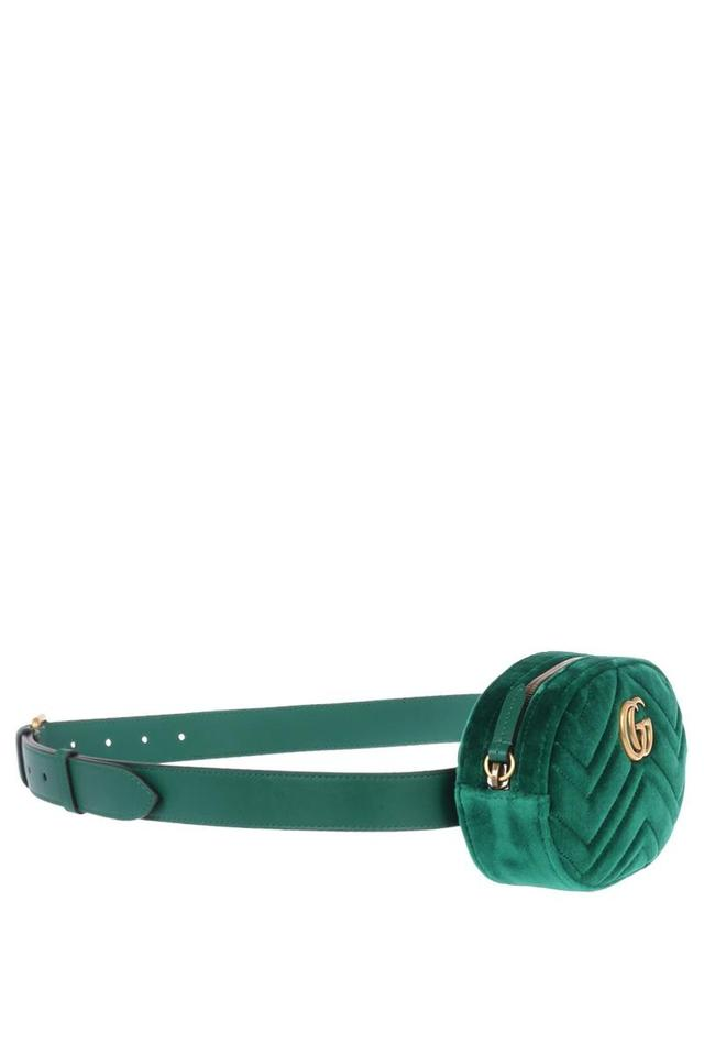 5127686a125 Gucci Marmont Gg Matelasse Belt Green Velvet Shoulder Bag - Tradesy