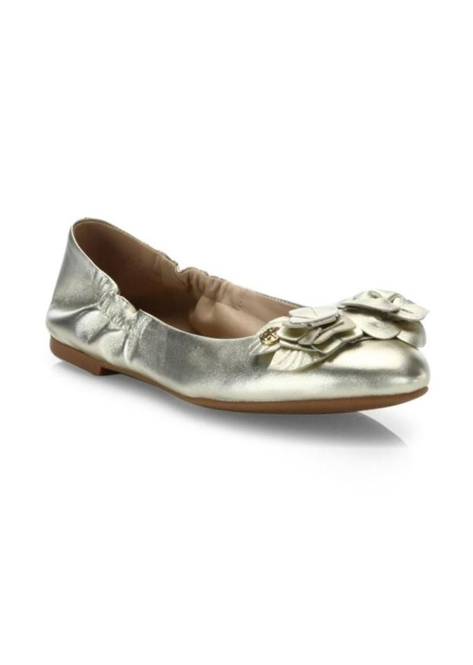 a65844dc5fc6 Tory Burch Gold (New) Leather Blossom Ballet Flats Size US 7.5 ...