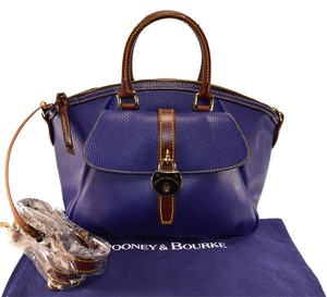Dooney & Bourke Samba Cobalt Blue Leather & Satchel in blue cobalt