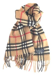 Burberry #16693 Beige Check pattern 100% lambswool scarf