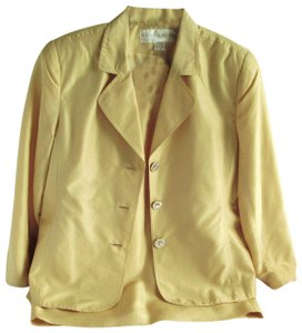 Doncaster DONCASTER Gorgeous 100% Silk Golden Yellow 2-Piece Jacket & Skirt Suit
