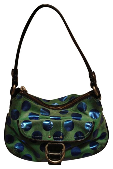 Preload https://item3.tradesy.com/images/marc-by-marc-jacobs-polka-dot-mint-and-blue-suede-leather-shoulder-bag-2287572-0-0.jpg?width=440&height=440