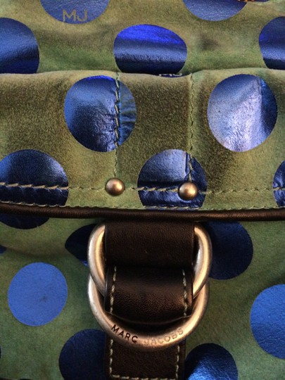 Marc by Marc Jacobs Suede Leather Polka Dot Shoulder Bag