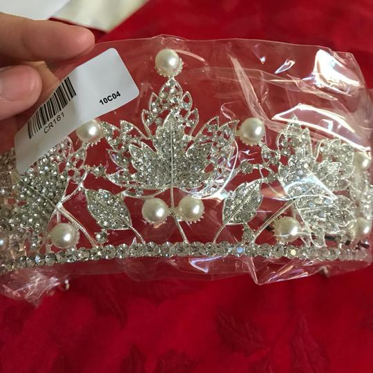 Other Stunning Shiny Full Crystal Beads Pearl Maple Leaf Bridal Tiaras Wedding Crown Image 6