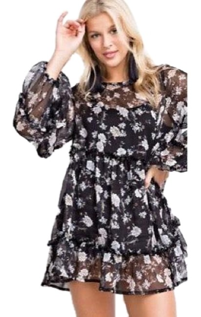 Preload https://img-static.tradesy.com/item/22875907/easel-black-babydoll-sheer-ruffled-floral-festival-fave-new-blouse-size-12-l-0-1-650-650.jpg