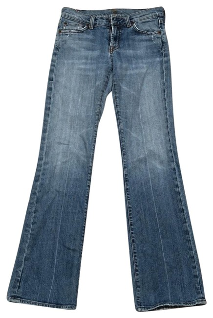 7 For All Mankind Straight Leg Jeans-Light Wash Image 0