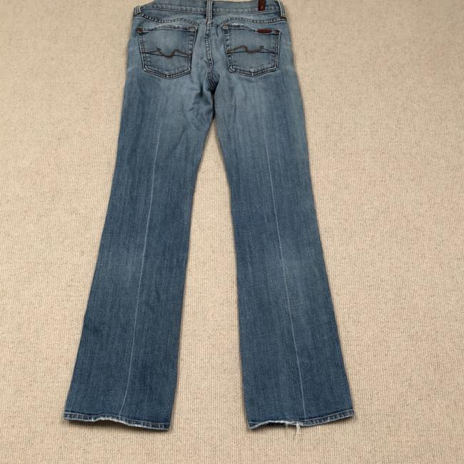 7 For All Mankind Straight Leg Jeans-Light Wash Image 4