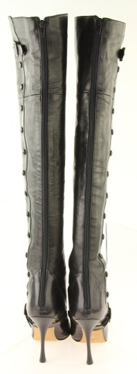 Manolo Blahnik Thigh High Over The Knee Black Boots Image 1