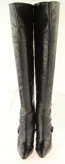 Manolo Blahnik Thigh High Over The Knee Black Boots Image 2
