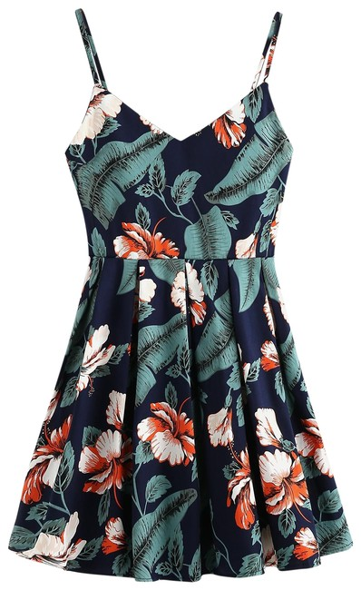 Preload https://img-static.tradesy.com/item/22875964/multiclor-leaf-floral-print-random-box-pleat-cami-short-casual-dress-size-4-s-0-1-650-650.jpg