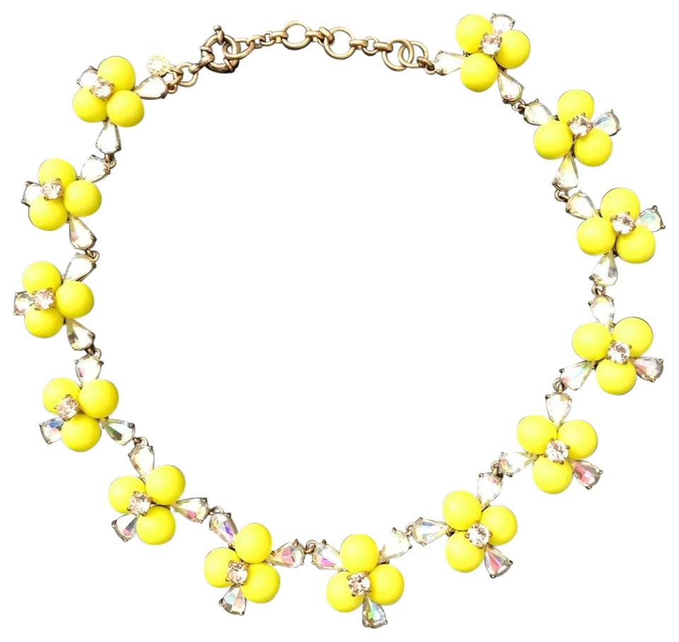 Jew yellow pop flower sold out necklace tradesy jew j crew pop flower necklace sold out mightylinksfo