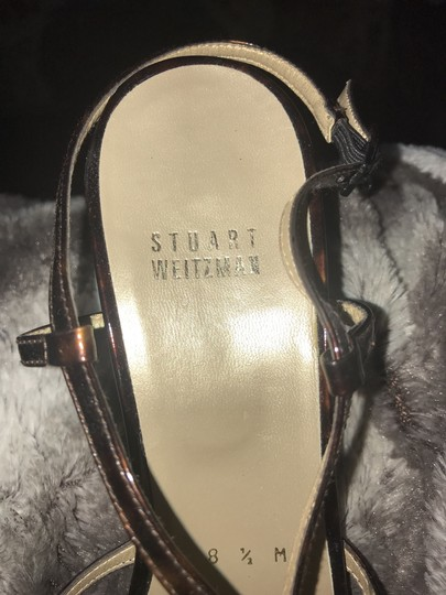 Stuart Weitzman Strappy Caged Patent Leather tortoise Sandals Image 7
