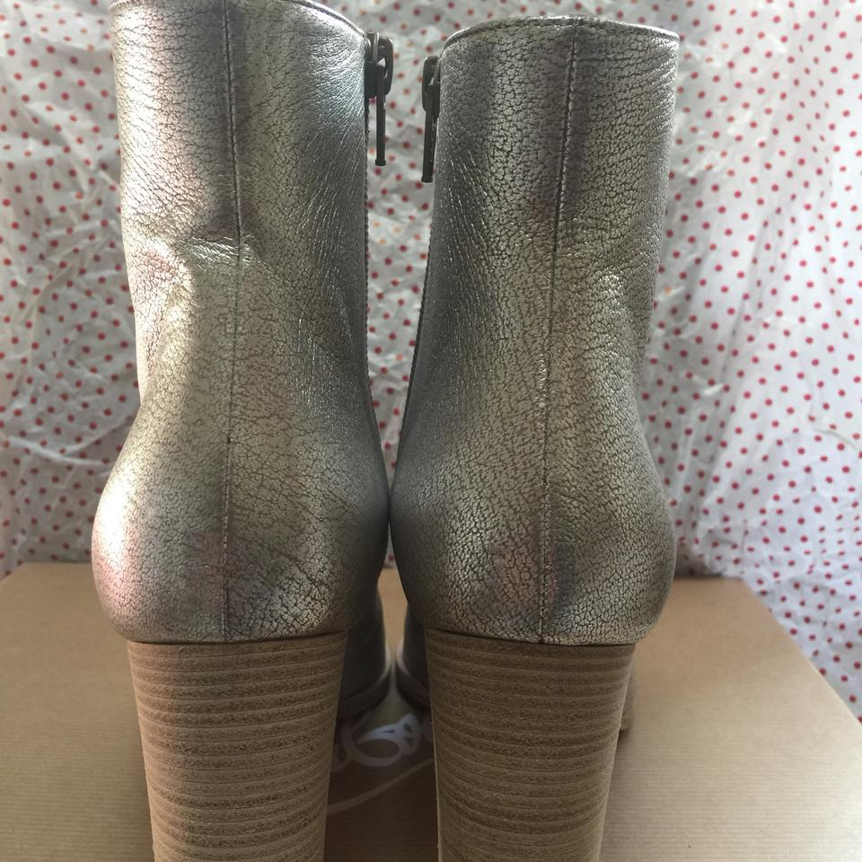 8319a82ab696 Christian Louboutin Metallic Adox 85 Leather 36.5 6 Boots Booties ...