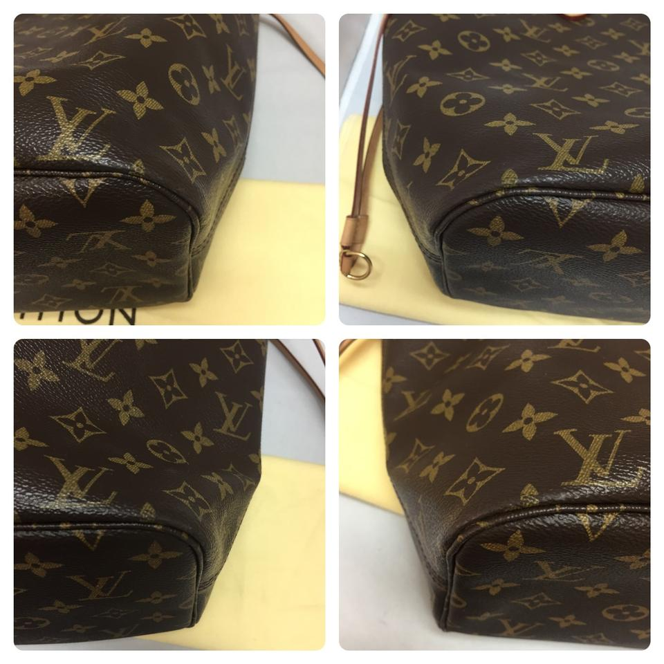 c219d59866a7 Louis Vuitton Neverfull Mm Limited Edition V Pink Brown Monogram Canvas  Tote - Tradesy