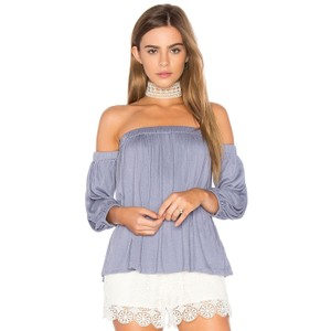 534d033ec8c Ella Moss Summer Off Shoulder Boho Anthropologie Top Blue