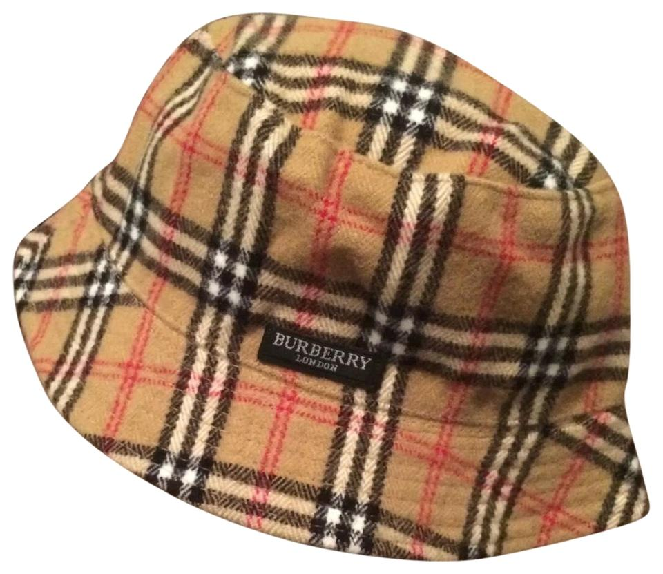 bb5383a5fc1 Burberry Beige   Black Plaid Reversible Bucket Hat - Tradesy