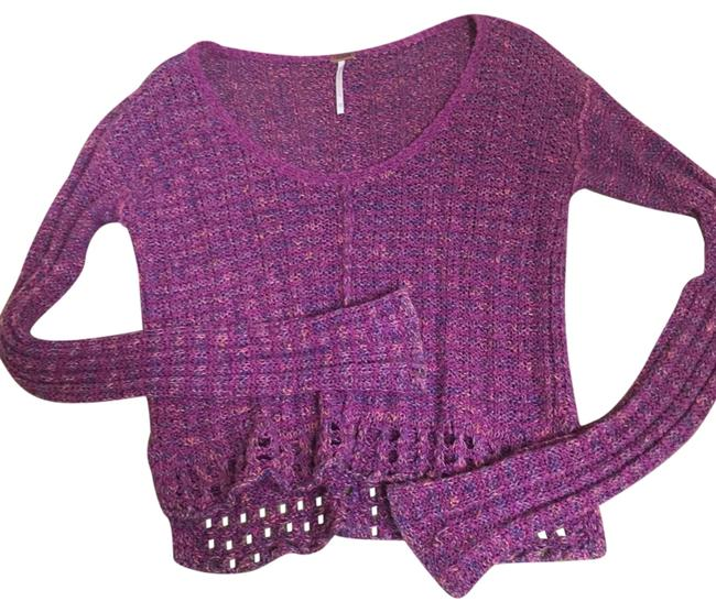 Preload https://img-static.tradesy.com/item/22876655/free-people-pink-cropped-knit-sweaterpullover-size-0-xs-0-1-650-650.jpg