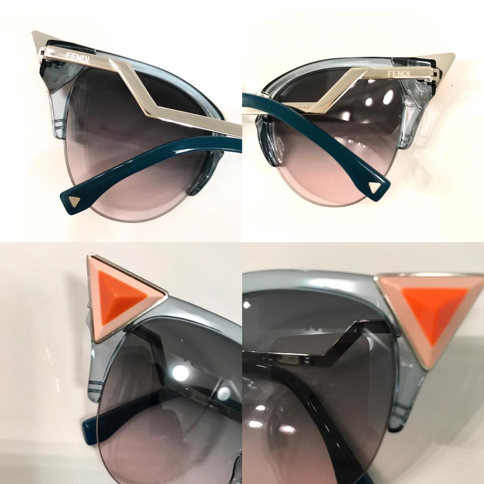 72a1744fd8 Fendi Blue Orange Peach Iridia Cat Eyes Sunglasses - Tradesy