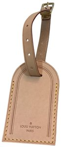 Louis Vuitton large leather luggage tag