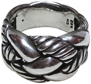 David Yurman DAVID YURMAN - STERLING SILVER CORDELIA BRAIDED CORD RING - SIZE = 7