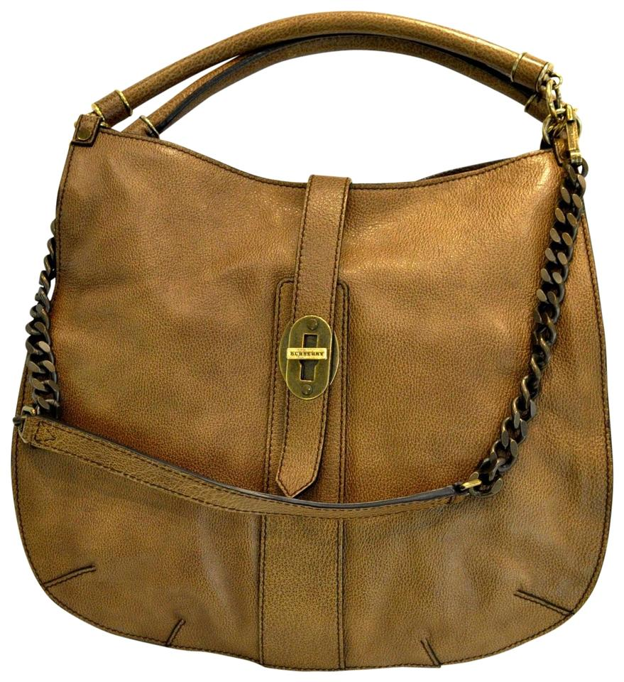 e6250be47e2f Burberry Textured Crossbody Tote Brown Leather Hobo Bag - Tradesy